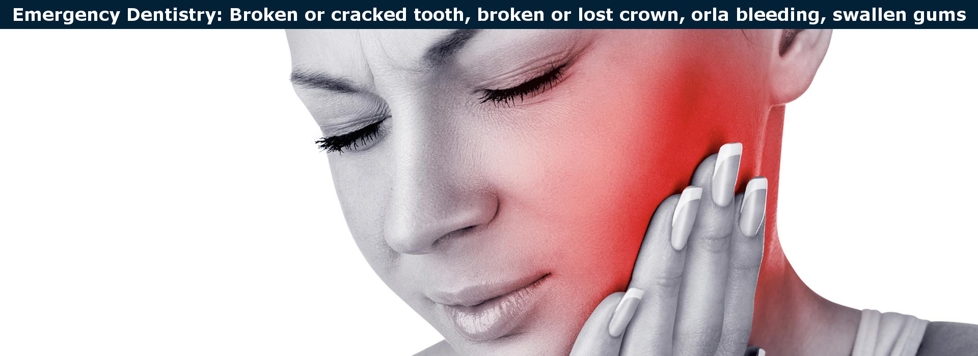 Emergency dentistry: broken tooth, broken, crown., etc.