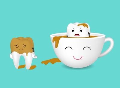 coffee stains teeth