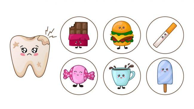 teeth damaging foods
